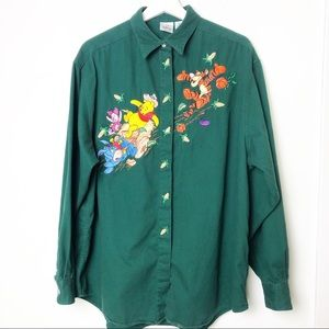 Disney Pooh and Friends button down Shirt Size XL